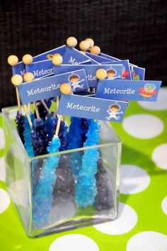 Astronaut Themed Birthday Party with Lots of Really Fun Ideas via Kara's Party Ideas | KarasPartyIdeas.com #spaceparty #alienparty #solarsys...