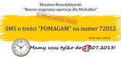 """SMS o treści """"POMAGAM"""" na nr 72052 !"""