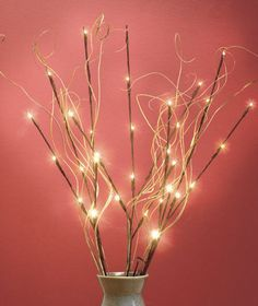 SWIRLS 3 LED LIGHTED BRANCHES HALL LIGHT ACCENT KITCHEN TABLE MANTEL HOME DECOR #Unbranded