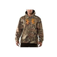 Mens Camouflage Antler Hunting Hoody Tops by Under Armour