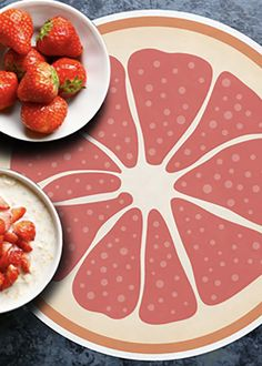 EXOTIC COLLECTION RECTANGLE PLACEMAT By A&A Story Placemat, Pepperoni, Grapefruit, Exotic, Pizza, Entertaining, Collection, Food, Style