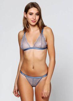 b5f50f886b Floral lace bra Panty set Sheer nude mesh lingerie set bra See Transparent  Lingerie