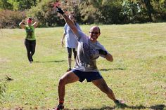 Dr. Adventure competing in the 2014 Viking Obstacle Race at Sunny Hill Resort in the Northern Catskills. - September 2014