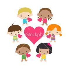 kids heart cartoon