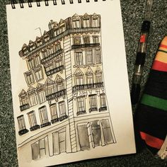 Building+inktober+October= Buildinktober!!! How could have I not thought of it before!? #illustration #sketch #sketchbook #obsession #series #architecture #inktober2016 #inktober #buildinktober #urbansketching #travels #france #lyon #art #pattesdemouche #instagrammies