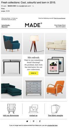 MADE.COM: анонс новой коллекции (28.01.15). Весна — время обновления. Именно на этом сделали акцент Made.com, представляя свою новую коллекцию товаров для дома.