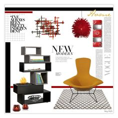 """""""Modern home"""" by mcheffer ❤ liked on Polyvore featuring interior, interiors, interior design, home, home decor, interior decorating, Varaluz, Universal Lighting and Decor, Knoll and Baccarat"""