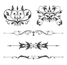 Floral and Swirls Ornaments
