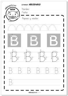 Ficha letras para imprimir - grafomotricidad - Actividad Abecedario - Letra B