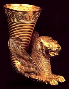 Rhyton from Ecbatana, Achaemenid period, 5th c. BC