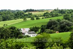 Farmstead in the Rolling Hills of NE Iowa.  Grant Woods Territory.