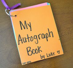 From The Hive: end of the year- preschool style autograph book