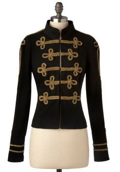 Battalion military-style jacket by BB Dakota, in black (also came in ivory), Michael Jackson-inspired
