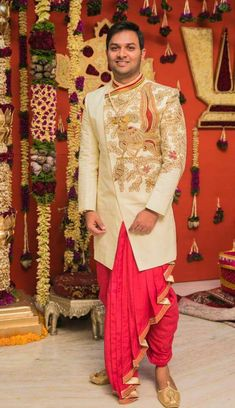Clothes Reference Shorts Ideas - Image 9 of 25 Indian Men Fashion, Mens Fashion Wear, Diy Fashion, Fashion Ideas, Groom Outfit, Groom Dress, Men Dress, Wedding Outfits For Groom, Indian Wedding Outfits