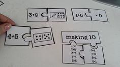 Addition puzzles! AMAZING! $ #mathcenters #mathgames #addition #factfamilies #makingten #doubles