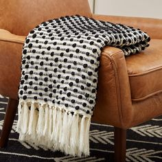 Rivet Bubble Textured Lightweight Decorative Fringe Throw Blanket, x Black and Cream White Throw Blanket, Black Blanket, Sims, Cooling Blanket, Pillow Texture, Textiles, Affordable Home Decor, Bed Throws, Bangs
