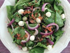 Have you searched for baby rocket salad recipe with mozzarella cheese? Baby rocket salad with Mozzarella cheese, Salad Recipes and thousands of illustrated recipes! Make Mozzarella Cheese, Spring Salad, Balsamic Vinegar, Cobb Salad, Salad Recipes, Spinach, Side Dishes, Salads, Homemade