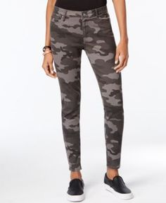 Calvin Klein Jeans Camouflage-Print Skinny Jeans