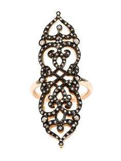 SABINE G 'Medieval' 18K Rose Gold And Diamond Ring #farfetch