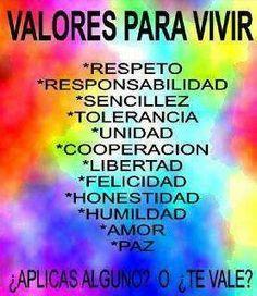 Valores para la vida