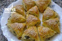 Peynirli Çıtır Üçgen Börek Tarifi