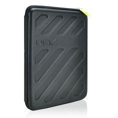 "Amazon.com: Unik Case Black Gauntlet Amor EVA Hard Shell Universal Sleeve Zipper Case Bag for All 13"" 13-Inch Laptop Notebook/ Macbook Pro/ Macbook Unibody/ Macbook Air/ Ultrabook/Chromebook: Computers & Accessories"