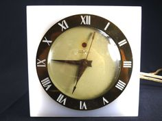 Vintage Telechron Clock White Lucite Electric by ChromaticWit, $29.99