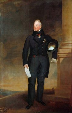 H.R.H. Prince William, Duke of Clarence, (later H.M. King William IV) in a portrait by Thomas Lawrence. 1827.