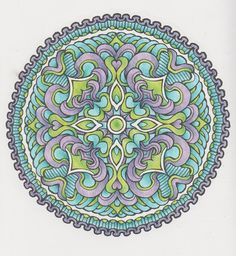 Magical Mandalas 009 done with pencils Art Illustrations, Illustration Art, Adult Coloring, Coloring Pages, Creative Haven Coloring Books, Learn To Sketch, Circle Art, Colouring Techniques, Mandala Coloring