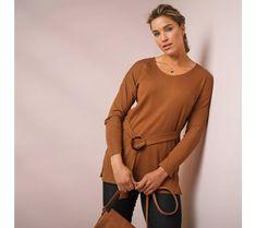 Pružná tunika s páskem | blancheporte.cz #blancheporte #blancheporteCZ #blancheporte_cz #moda #fashion #exkluzivni #exclusive Men Sweater, Sweaters, Dresses, Fashion, Tunic, Vestidos, Moda, Fashion Styles, Men's Knits