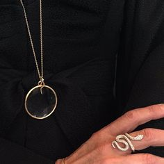 Ole Lynggaard Copenhagen Magnifying Glass Pendant & Snake Ring. Lovely!