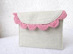 cute linen pouch