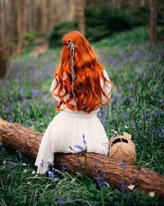 O silent wood.I sit in thy shadow-but not alone.🌿🌿🌿Bluebell woods feel like a scene from Pre-Raphaelite painting. I'd cut my hair but… Princess Aesthetic, Aesthetic Girl, Aesthetic Green, Fantasy Photography, Girl Photography, Cut My Hair, Red Hair, Bonding Styles, Pre Raphaelite Paintings