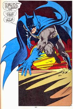 Batman by Neal Adams - an iconic image created in a monthly comic!!
