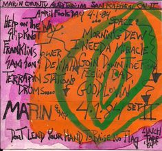 Marin County 4-1-1984 (April fools day) #GratefulDead, original cassette tape case art by Jurassic Blueberries.