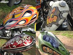The 20 most interesting gas tanks of chopperfest show in Ventura, CA.