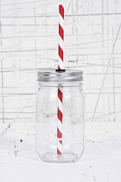 To Go Jar in Red - Urban Outfitters