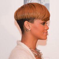 Rihanna with the bowl cut.very nice Rihanna Hairstyles, Latest Hairstyles, Summer Hairstyles, Straight Hairstyles, Tapered Natural Hair, Natural Hair Styles, Short Styles, Pixie Styles, Goddess Hairstyles
