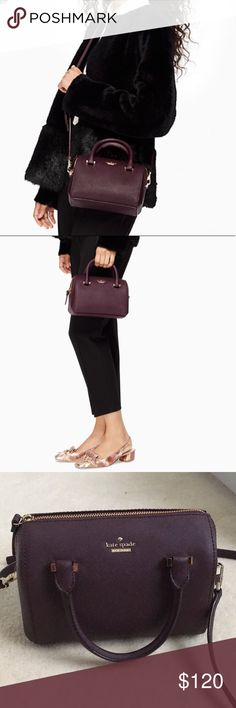 Kate Spade | Mini Satchel Crossbody Kate Spade Cameron Street Lane Mini Crossbody Satchel purse in beautiful plum purple color! Excellent condition, used only a couple times max. kate spade Bags Crossbody Bags