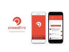 Crowdfire app Material Design Concept