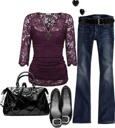 """purple lace"" by jen-beamis on Polyvore"