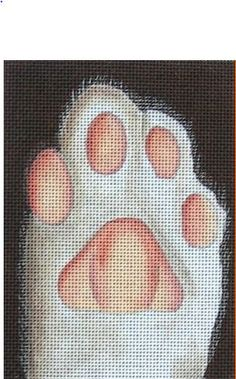 click here to view larger image of Cat's Paw (hand painted canvases)