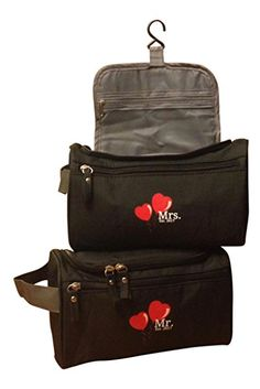92a67a4db Mr and Mrs Est 2017 Travel Bag Set for Honeymoon Bridal Shower and Wedding  Gifts for Couples His Hers Newly Engaged  Amazon.ca  Home   Kitchen