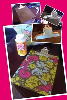 Mod Podge Scrapbooking Paper Clipboard Project