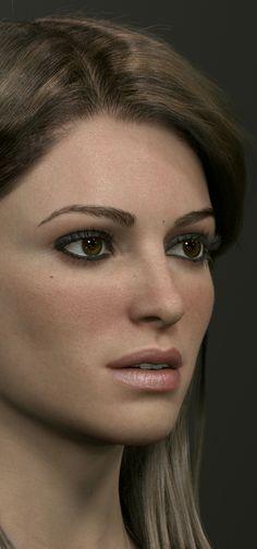 Wonderful Woman Realistic 3D Art by Luc Begin | Zbrushtuts