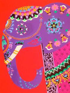 New painting ideas elephant art projects Ideas Indian Elephant, Elephant Love, Elephant Art, Purple Elephant, Colorful Elephant, Elephant India, Elephant Pattern, Elefante Hindu, Arte Elemental