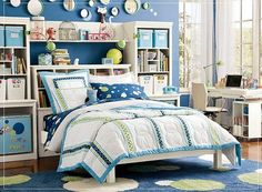 The Beauteous of Girl Bedroom Ideas: Attractives Girl Bedroom Ideas With Contemporary Wall Clocks Blue Ikea Carpet Modern Bed Also Modern Desk To The Large Window As Well Computer Cabinet Ti The Awesome Window Replacement ~ surrealcoding.com bedroom Inspiration