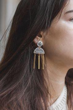 Loom Small Statement earrings by Malaforma