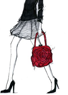 A mixed media illustration I created a couple years ago inspired by a #valentino purse.