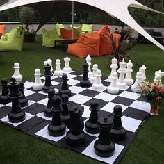 Fun! Oversized lawn chess!  via Buzzfeed | 22 Gorgeous Startup Offices You Wish You Worked In